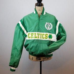 Vintage Celtics Delong 1/4 pocketed jacket